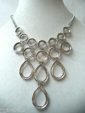 JEWELRY WAREHOUSE MODERN NEW OLD STOCK TEARDROP CIRCLES NECKLACE MINT!!! WGA321
