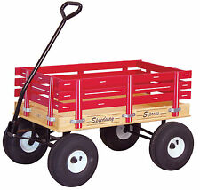 AMISH HEAVY DUTY WAGON - Red Green Pink Blue 33x19 Bed Solid Quality Cart USA