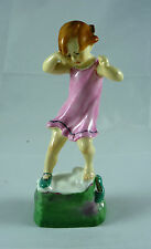 FABULOUS VINTAGE ROYAL WORCESTER FIGURINE WEDNESDAYS CHILD GIRL #3259