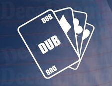 ACE OF DUBS Cards Novelty Funny Joke Sticker Ideal For Any Car/Van/Camper/Window