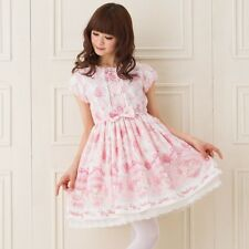 One Piece Sanrio My Melody Official Dress Baby Pink Bow Frill Women Lace Lolita