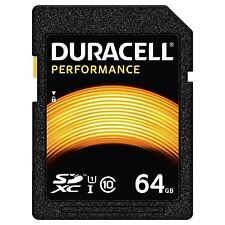 DURACELL 64GB SDHC Class 10 UHS-I U1 Memory Card for Digital SLR Cameras & more.