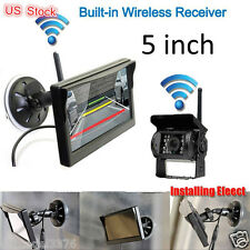 "wireless rearview system 5""LCD auto monitor backup CCD camera for truck RV car"