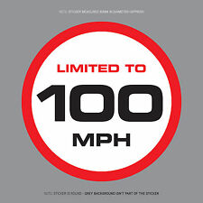 SKU1120 - LIMITED TO 100MPH Vehicle Speed Restriction Sticker Vinyl Car Van 80mm