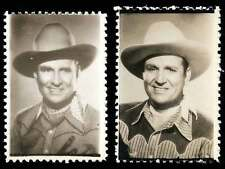 """USA Poster Stamps - Gene Autry """"The Singing Cowboy"""" Photo-Stamps - 2 Different"""
