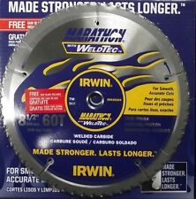 "Irwin Weldtec 4935204 8-1/2"" x 60T Carbide Saw Blade 2 Blades"