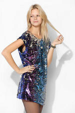 $150 Urban Outfitters Women Staring At Stars Multi-sequin Tee Tunic Dress XS 0 2