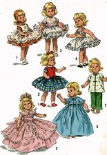 Vintage Doll Clothes PATTERN 1809 for 8 in Ginny Muffie Alexander Kin by Vogue