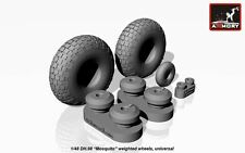 Armory Models 1/48 DH-98 MOSQUITO CHECKERBOARD TIRE PATTERN WHEEL SET Resin Set
