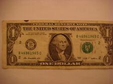 2009 $1.00 DOLLAR BILL BIRTHDAY/ANNIVERSARY 1965