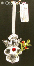 Teeny Mistletoe Angel Ornament Wings Jewel Crystal Halo Religious Acrylic Ganz N