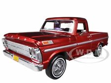 1969 FORD F-100 PICKUP TRUCK BURGUNDY 1/24 DIECAST MODEL CAR BY MOTORMAX 79315