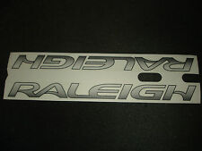 2 AUTHENTIC NOS RALEIGH BIKE SILVER FRAME STICKERS #15 DECALS
