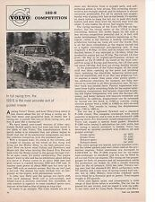 1964 VOLVO 122-S ~ ORIGINAL 2-PAGE ARTICLE / AD