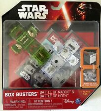 Star Wars Box Busters Battle of Hoth & Naboo Playsets Spin Master 2015 NRFP!!!