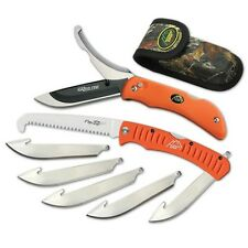 NEW Outdoor Edge Razor-Pro/Saw Combo Orange Replaceable Razor Blade Knife & Saw