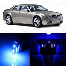 14 x Super Blue LED Interior Light Package For Chrysler 300 300C 2005 - 2010