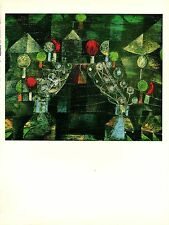 """1967 Vintage PAUL KLEE """"WOMEN'S PAVILION"""" GORGEOUS COLOR offset Lithograph"""
