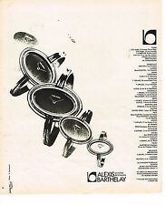 PUBLICITE ADVERTISING 034   1975   ALEXIS BARTHELAY  montres