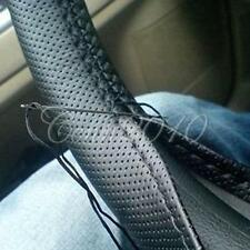 Leather New Black DIY Steering Wheel Cover With Hole Size M