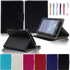 Universal Adjustable Leather Stand Case Cover For 7