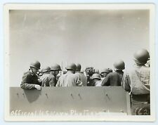 Us Navy photograph Soldiers in helmets on ship Nice Comp Vintage snapshot photo