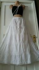 Cotton&Lace Embroidered Gypsy Boho Casual Festival5 tier Skirt 12 14 16 18 20 22