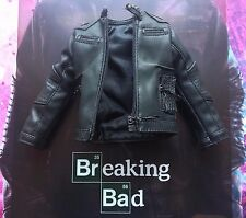 Threezero Breaking Bad brba Jesse Pinkman Negro Cuero Chaqueta Suelto Escala 1/6th