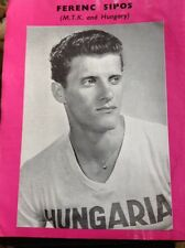 L1-6 Ephemera 1961 Picture Ferenc Sipos M T K Hungary Football Footballer