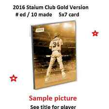 PAUL MOLITOR #253 BREWERS 2016 Topps Stadium Club 5X7 Gold Version #ed/10 Made