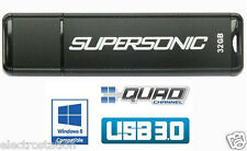 LOT of 16* PATRIOT 32 GB Supersonic USB 3.0 Flash Drive *Quad-Channel* Tot=512GB