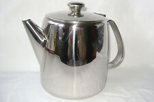 NEW STAINLESS STEEL FLIP LID LARGE TEA POT TEAPOT 1 LITRE 32oz BOXED SUNNEX
