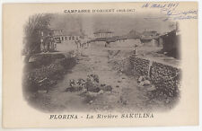 CPA SERBIE - CAMPAGNE D'ORIENT 1914-17 - FLORINA - LA RIVIERE SAKULINA