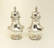 PAIR OF SILVER EDWARDIAN PEPPERETTES CHESTER 1908 NATHAN & HAYES