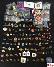 Vintage 100 Pin/Badge/Button Collection~Sports~Towns~Patriotic~