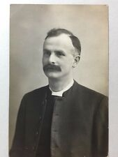 Vintage Real Photograph - #M - Mounted Picture Clergyman / Minister - 1915 Named