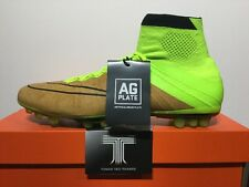 Nike Mercurial Superfly Leather AG-R Sockboot ~ 747218 707 ~ Uk Size 9