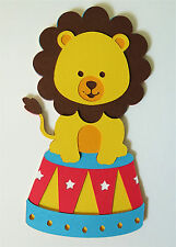 Cute Circus Animal Lion Die Cut Paper Piecing Scrapbook Embellishment