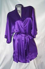 Small / Medium~ Victorias Secret Sexy Satin Purple Robe Kimono Spa Wrap~NWT