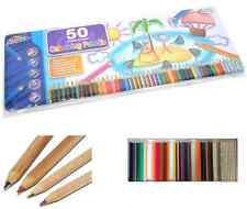 TIN 50 ARTIST COLOUR DRAWING SKETCHING PENCILS METALLIC SCENTED RAINBOW T50P*