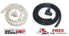 2m CABLE TIDY KIT WRAP WIRE SAFETY ORGANIZING BENDABLE KIT FOR TV DVD PC WRAPS