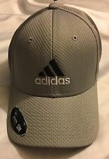 Adidas Men's Climalite Stretch Fit Baseball Golf Hat A2L001 Gray Size S/M