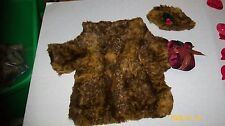 FITS CABBAGE PATCH SOFTY DOLLS FAKE FUR COAT AND HAT