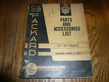 1955 1956 55th 56th Series Packard Parts Accessories List - Vintage - April 1957