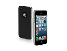 SBS DUAL COLOR CUSTODIA CASE per APPLE IPHONE 5 5G 5S NERA ALLUMINIO