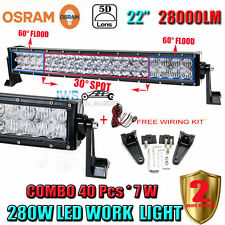 5D 22INCH 280W OSRAM CURVED LED LIGHT BAR COMBO OFFROAD DRIVING LAMP SUV PICKUP