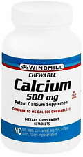 Windmilll Chewable Calcium 500 mg Tabs - 60 ct