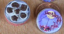 1:12th Full Biscuit Tin Dolls House Miniature Kitchen Christmas Accessory ct18c