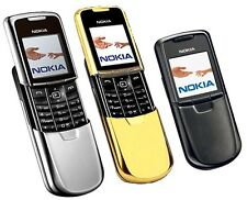 Nokia 8800 - Silver/Black/Gold - (Unlocked) Cellular Phone