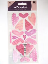 STICKO STICKERS - VELLUM SWEETHEARTS hearts Valentine's day